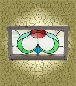Antique Stained Glass Window Fabulous Six color Arts n Crafts Tulip