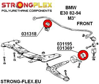 BMW E30 M3 Full Suspension Bush KIT polyurethane