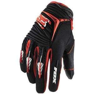 Fox Racing Blitz Gloves   XX Large/Black/Red Automotive
