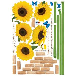 ECO Morning Sunflowers Art Instant Decoration Wall Sticker Decal