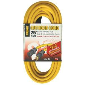 12/3 SJTW Jobsite Outdoor Extension Cord, Yellow