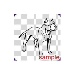 DOGS PITBULL 10 WHITE VINYL DECAL STICKER Everything