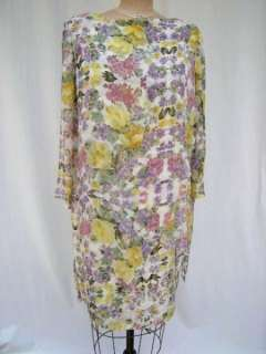 VTG Tom&Linda Platt Silk Chiffon Print Party Dress Sz12