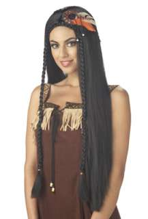 Sexy Indian Princess Costume Wig   Black for Halloween   Pure Costumes