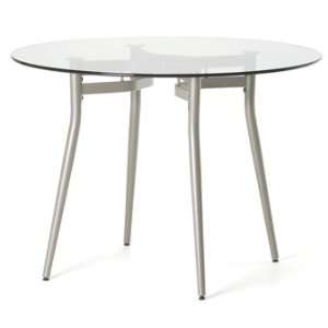 Amisco Anais Round or Square Glass Top Dining Table