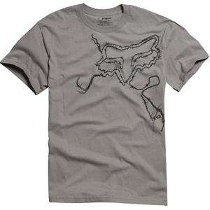 Fox Racing Barbed T Shirt   Small/Dark Grey Automotive