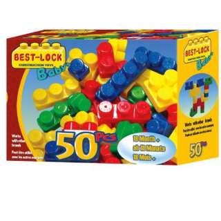 Best Lock 50 Baby Blocks in Box Toys & Games
