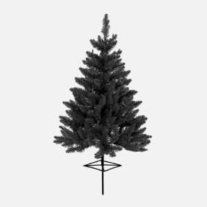 3 Pre Lit Black Ashley Spruce Christmas Tree Yard Stake