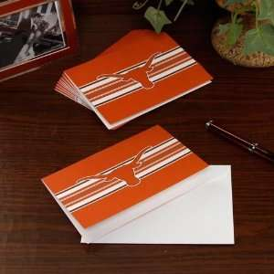 Texas Longhorns 10 Pack Color Block Folded Note Cards