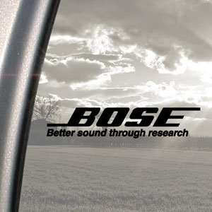 Bose Black Decal Bose Research Car Truck Window Sticker