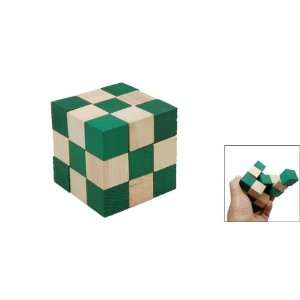 3x3x3 Wooden Magic Cube IQ Brain Teaser Puzzle 3D Toy Toys & Games