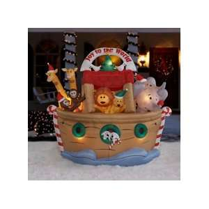 7ft Airblown Inflatable Animated Christmas Noahs Ark