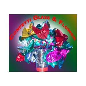 Confetti Glass to Flower Illusion Magicians Magic Trick