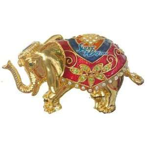 elephant   Swarovski Crystal Jewelry Trinket Box IV (JF8006) Beauty