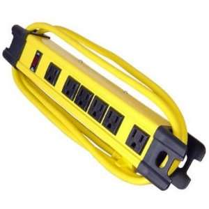 6 Outlet Yellow Strip Heavy Duty
