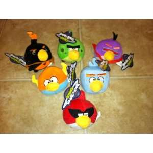 Angry Birds Space Plush Set of ALL 6 Toys & Games