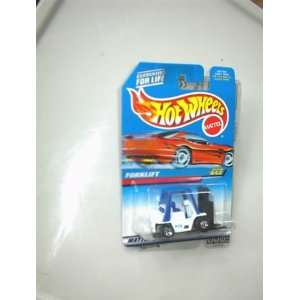 Mattel Hot Wheels 1997 FORKLIFT White, Black/Blue 164 Scale Die Cast