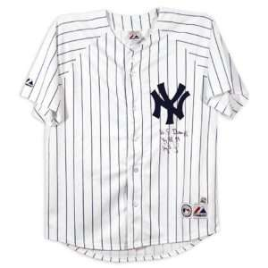 Darryl Strawberry New York Yankees Autographed Majestic Jersey with 96