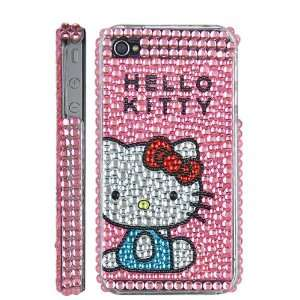 Hello Kitty Glue Reinforced Rhinestone Case For iPhone 4