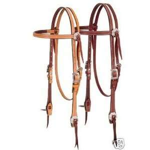 WEAVER LEATHER HEADSTALL BRIDLE WESTERN HORSE TACK