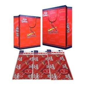 Saint Louis Cardinals MLB Gift Bags (2 Large,1 Medium) & Flat Gift