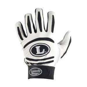 Louisville Slugger BG43 Youth Batting Glove   White/Black