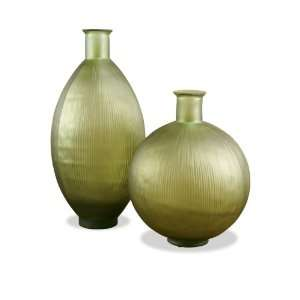Apollo Light Olive Green Recycled Glass Modern Vases