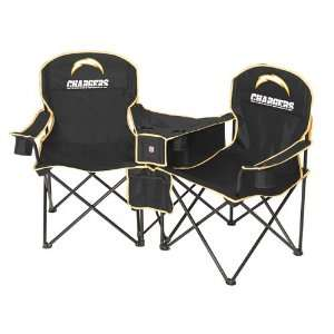 San Diego Chargers NFL Deluxe Folding Conversation Arm Chair by