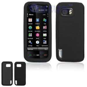 Nokia XpressMusic 5800 Solid Black Silicon Skin Case Cell