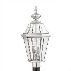Bundle 46 Georgetown Two Light Outdoor Post Lantern in Brushed Nickel
