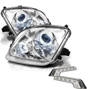 Carpart4u Honda Prelude Halo Chrome Projector Headlights and LED Day