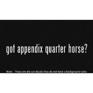 (2x) Got Appendix Quarter Horse   Decal   Die Cut   Vinyl