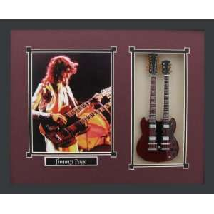 Guitar Shadowbox Shadow Box Frame Led Zeppelin Musical Instruments