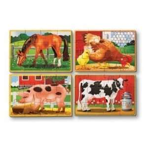 Wooden Jigsaw Puzzles in a BoxFarm Animals Toys & Games