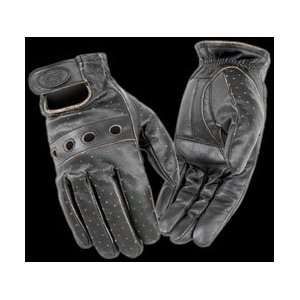 RIVER ROAD OUTLAW VINTAGE LEATHER GLOVES (SMALL) (BLACK