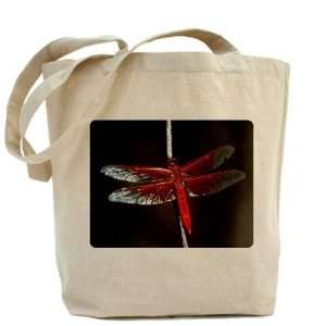 Tote Bag Red Flame Dragonfly