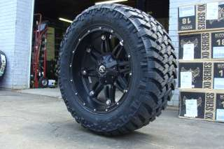 18 Fuel Off Road Wheels Hostage Black Nitto Trail Grappler MT Tires