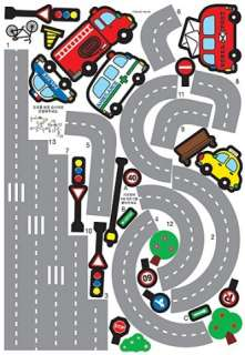 CAR ROAD KIDS WALL DECAL PEEL STICK DECOR STICKERS #213