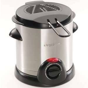 Presto 1000 Watt Stainless Steel Electric Deep Fryer Appliances