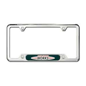 MINI Cooper John Cooper Works Polished Stainless Steel License Plate