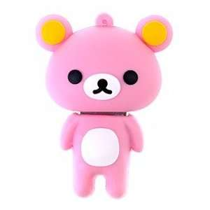 8GB Cute Bear Shaped USB Flash Drive U Disk Cartoon Flash Memory (Pink