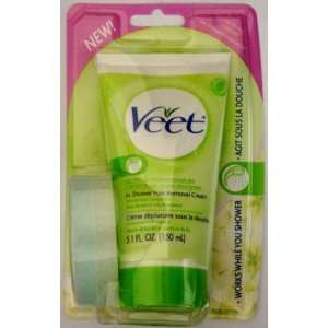 Veet in Shower Hair Removal Cream for DRY Skin with Shea Butter & Lily