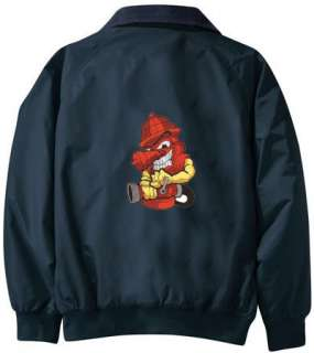 FIREMAN FIREFIGHTER embroidered jacket PERSONALIZED J75