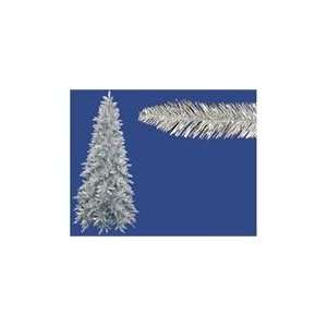 12 Pre Lit Slim Silver Ashley Spruce Tinsel Christmas Tree