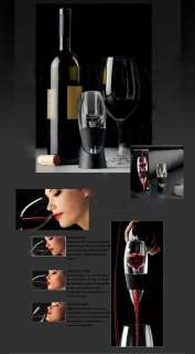 Essential White Red Wine Aerator Decanter Grapes #8832